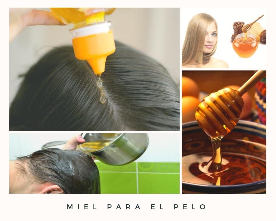 miel para el pelo